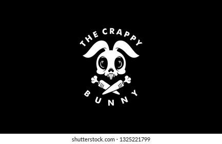 Rabbit Skull Logo Vector Illustration