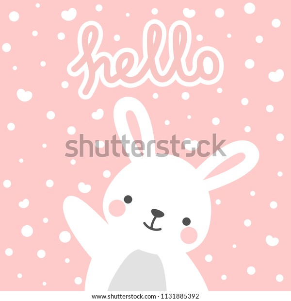 photo about Baby Shower Card Printable called Rabbit Vector Print Boy or girl Shower Card Inventory Vector (Royalty