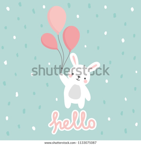 photograph relating to Baby Shower Card Printable identify Rabbit Vector Print Little one Shower Card Inventory Vector (Royalty