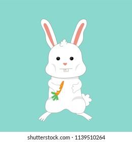 rabbit wit a carrot illustration