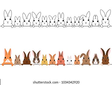 rabbits border set