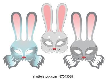rabbits masks