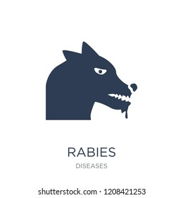 Rabies icon. Trendy flat vector Rabies icon on white background from Diseases collection, vector illustration can be use for web and mobile, eps10