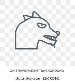 Rabies icon. Trendy flat vector Rabies icon on transparent background from Diseases collection. High quality filled Rabies symbol use for web and mobile