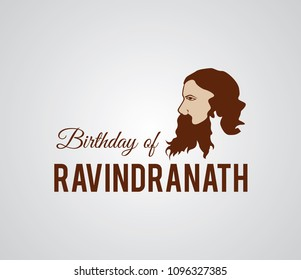 Rabindranath greeting card. rabindranath logo