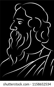 rabindranath tagore illustration vector image
