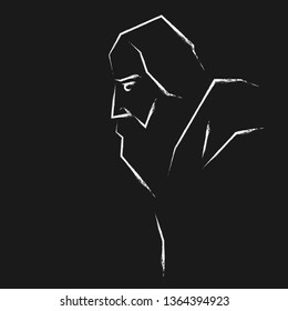 Rabindranath Tagore illustration vector image