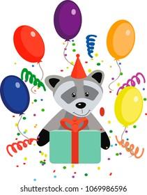 raccon happy birthday