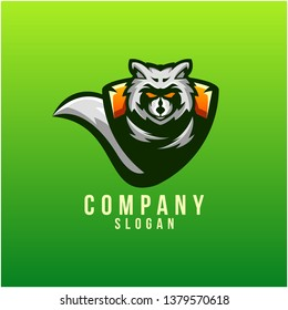 raccon logo design