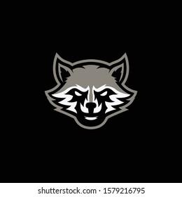 raccon logo design vector illustration for sports and e sports logos