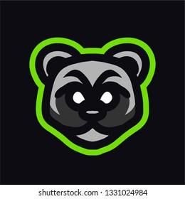 Raccon mascot logo gaming vector template