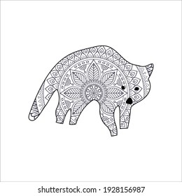 Raccoon coloring page for all ages