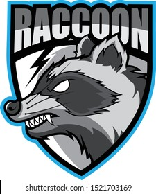 Raccoon Mascot logo vector design with a simple and modern style for sports and sport teams