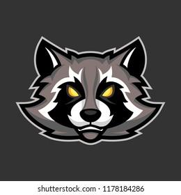 raccoon mascot, Sport or esports racoon logo emblem
