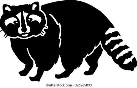 Raccoon silhouette