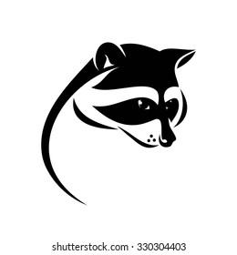 Raccoon symbol - vector illustration