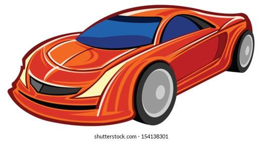 Sport Car Cartoon Images Stock Photos Vectors Shutterstock