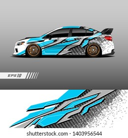 Race car decal wrap design vector. Graphic abstract stripe racing background kit designs for vehicle, race car, rally, adventure and livery.
