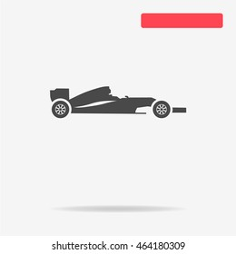Race car icon. Vector concept illustration for design.
