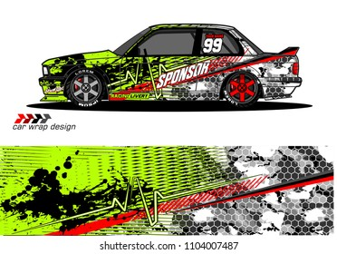 Race car livery graphic vector designs. abstract background for vehicle vinyl wrap