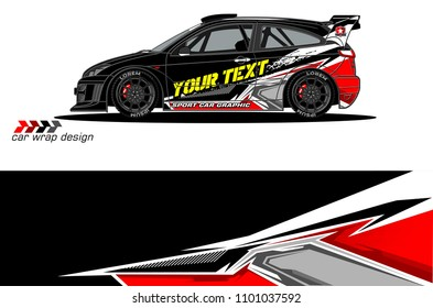 Race car livery vector designs.  abstract background for vehicle vinyl wrap design