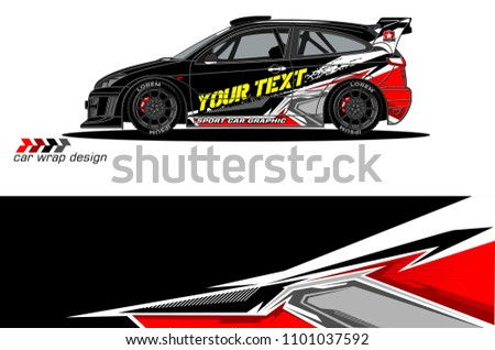 Race Car Livery Vector Designs Abstract Stock Vector Royalty Free