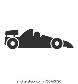 Race car. monochrome icon