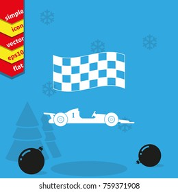 Race Car Vector Icon