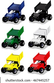 Race Care Illustration in several colors