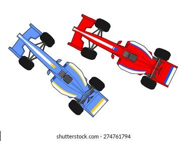 race cars running