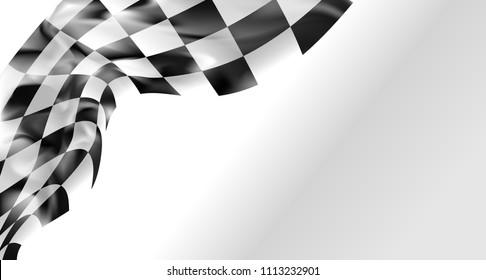 race flag checkered waving flag background