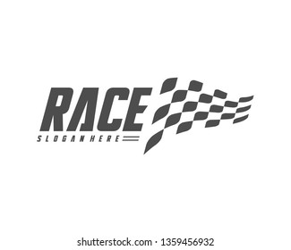 Race flag Design Concepts Icon. Speed Flag Simple Design Illustration Vector. Icon Symbol