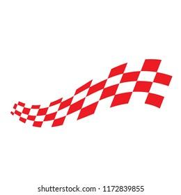 Race Flag Design Vector Illustration