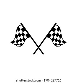 Race flag icon. Competition sport flag line vector icon. Racing flag. Start finish. on white background