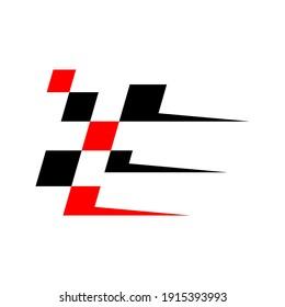 Race flag icon logo design vector. Icon Symbol. Template Illustration. Creative design