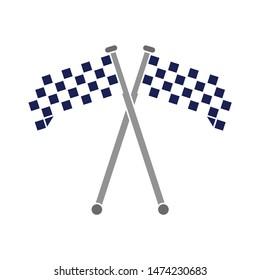 race flag icon, simple design race flag logo template - race flag Logo  vector icon. flat illustration of flag.