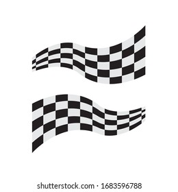 Race flag icon, simple design illustration vector
