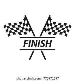 race flag icon, simple design race flag logo template