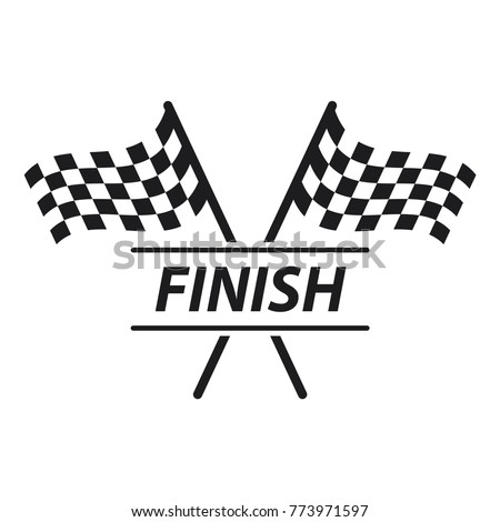 Race Flag Icon Simple Design R...