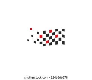 Race flag icon vector template