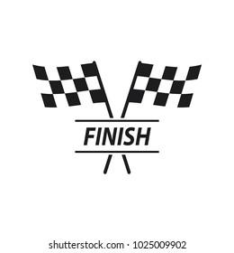 race flag logo template