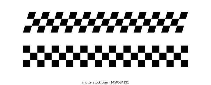Race Flag Silhouette , Race Flag Desig Illustration Vector