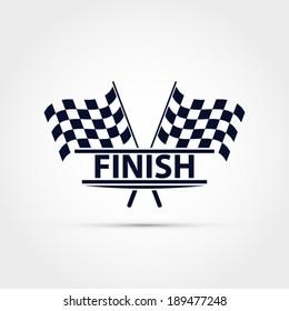 Race flag vector, finish illustration