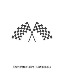 Race flag. Vector icon template