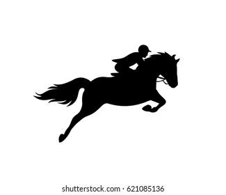 Race horse silhouette