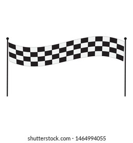 Race rally checkered speed flag