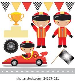 Race vector illustration