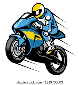 racer sportbike wheelie