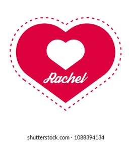 rachel name images stock photos vectors shutterstock