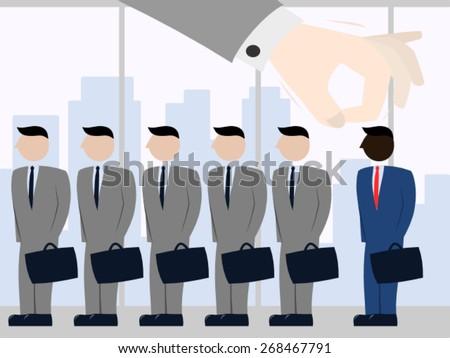 racial discrimination work のベクター画像素材 ロイヤリティフリー